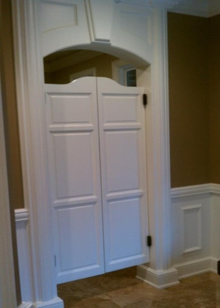 Custom Arch Top Raised Panel Saloon Doors