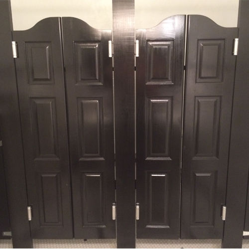 Arch Top Raised Panel Cafe Doors