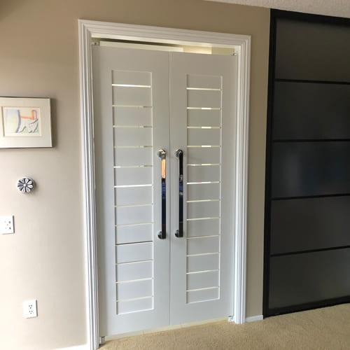 Modern Contemporary Swinging Slat Doors