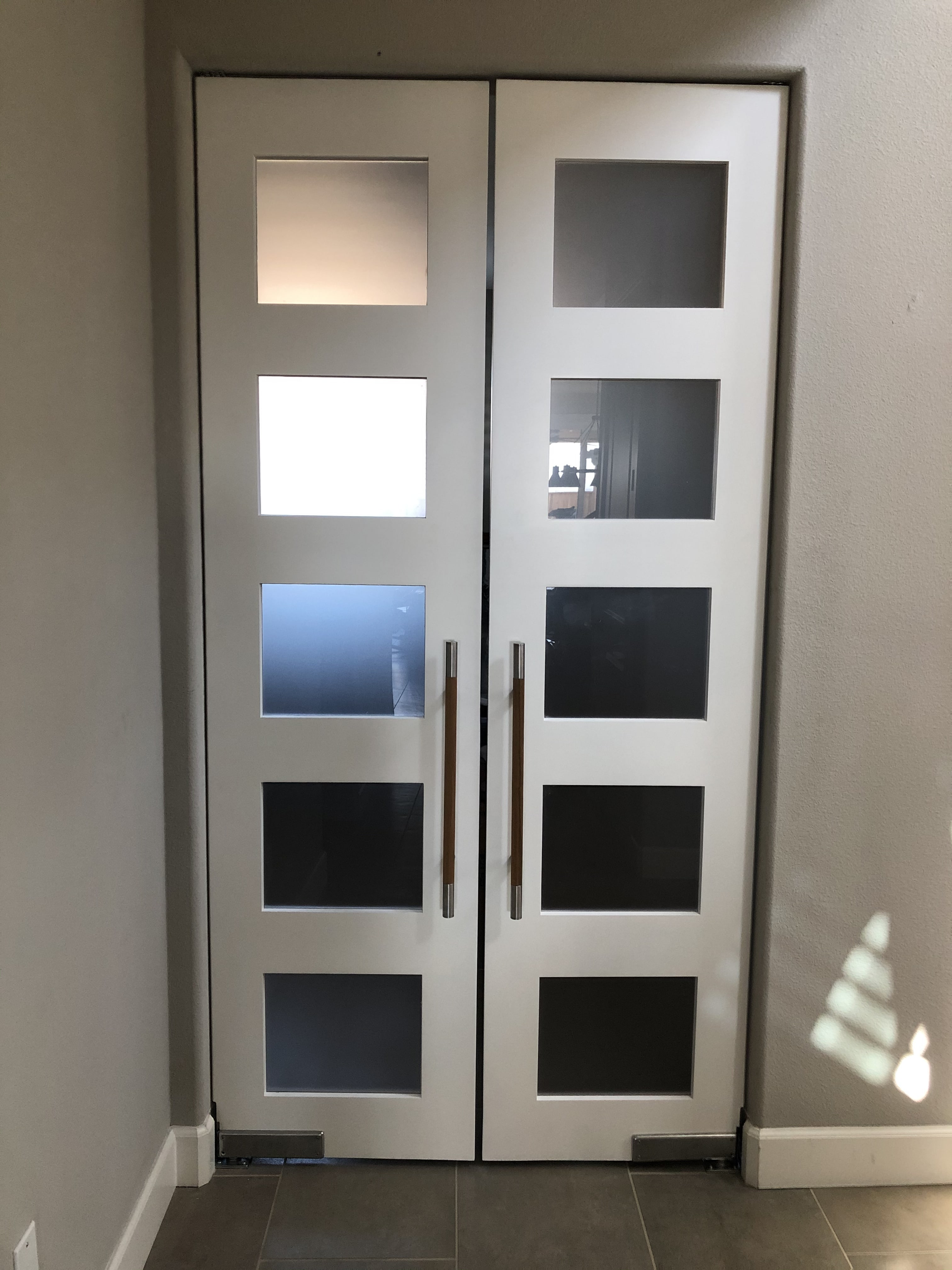 Modern Contemporary Double Swing Doors