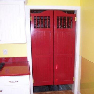 Double Swinging Kitchen Doors