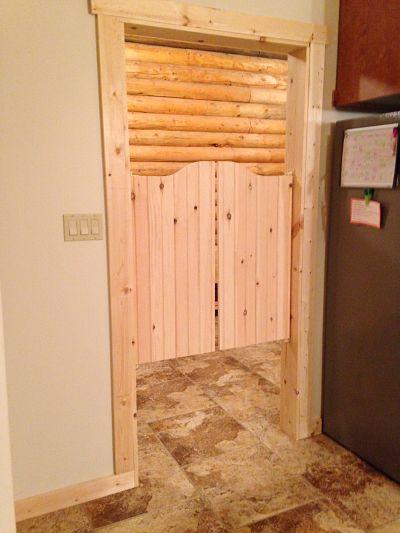 Custom Pine  V-Groove  Saloon Doors installed & Rustic Santa Fe Western Saloon Doors | Swinging Cafe Doors